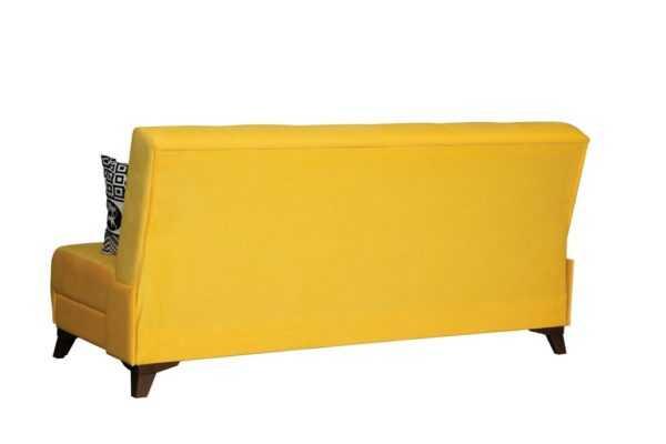 """1c6a8981 600x400 - Диван - кровать """"Лофт"""" (микровелюр желтый)"""