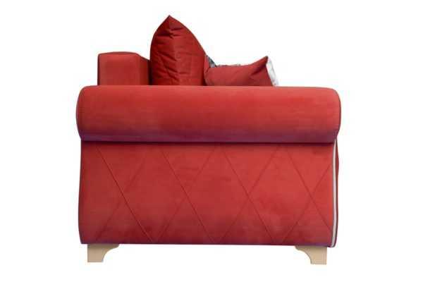 "mikrovelyur gavayi bordo mikrovelvet kremovyy profil 600x400 - Диван - кровать ""ЕвроПорто"" (микровелюр Гавайи бордо)"