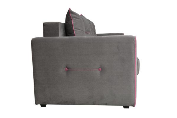 """1c6a7335 600x400 - Диван - кровать """"Оригами"""" (велюр графит/жаккард бордо)"""