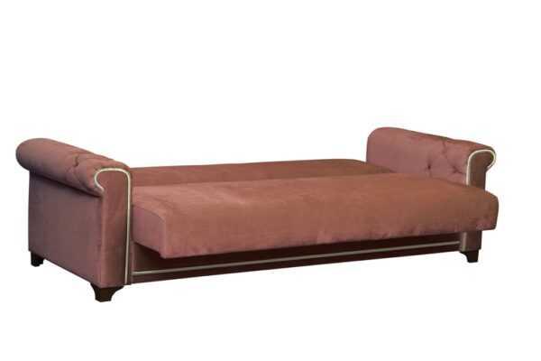 "yaguguar kemel star velvet krem razlozhen 1 600x400 - Диван - кровать ""Милан"" (ягуар кэмел / стар вельвет крем)"