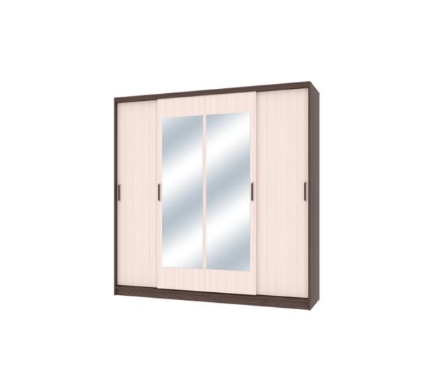 Неаполь шкаф-купе 4-х дверный с 2-мя зеркалами 2000 мм