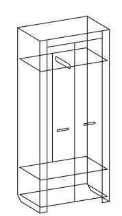b1971c420e4c1987fca085b084f83daf - Фест 9 шкаф для одежды двухдверный