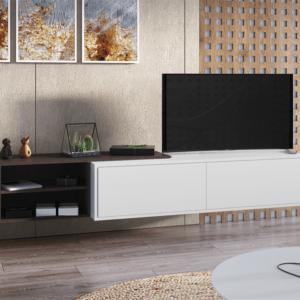 poldl 2 300x300 - Тумба ТВ подвесная 1 (венге/ белый глянец)
