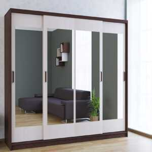 Неаполь шкаф-купе 4-х дверный с 4-мя зеркалами 2000 мм