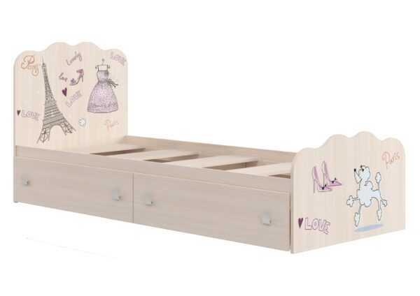 """""""ПАРИЖ"""" КР-18 Кровать с выдвижными ящиками на колесиках"""