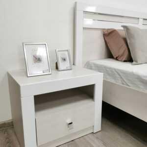 Амели 1.2 кровать 1,2 дуб харбор белый