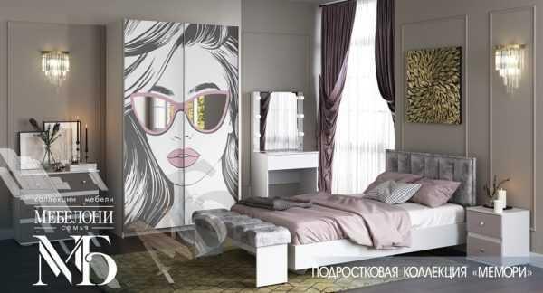 """Кровать """"Мемори"""" 120х200 см с бархатным изголовьем"""