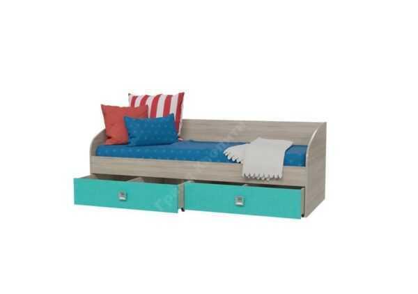 Сити кровать односпальная (80) с двумя ящиками