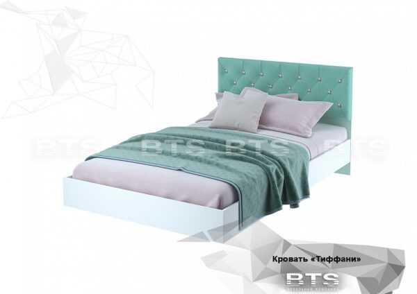 """Кровать КР-09 """"Тиффани"""" 120х200 см с бархатным изголовьем"""