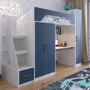 """vinterberg lazur 2 300x300 - Кровать-чердак """"Аракс"""" со шкафом и рабочей зоной"""